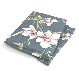 Tache Grey Pink Neutral Floral Pillowcase - Cherry Blossom D
