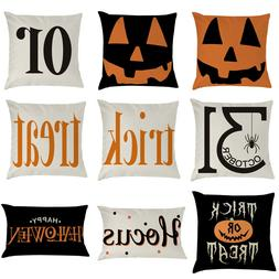 Halloween Pillow Cases Fall Sofa Pumpkin Throw Cushion Cover
