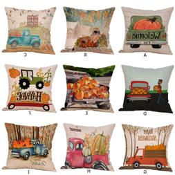 Halloween Pillow Cases  Linen Sofa Pumpkin Cover Nice