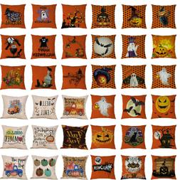 Happy Halloween Ghost Pillow Case Sofa Waist Throw Cushion C