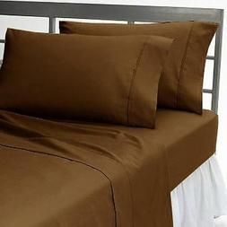 High Deep Pocket 4PC Bed Sheet Set 1000TC Egyptian Cotton Ch