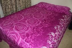 High-End 100% Cotton Floral Print Bed Sheet with Pillow Case