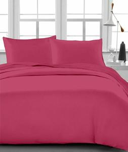 Hot Pink Solid 8,10,12,15 Inch Deep Pkt Bedding Items 1000 T