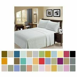 hotel luxury 4 pcs sheet set brushed
