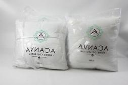 "Acanva Hypoallergenic Pillow Insert Form Cushion, 18"" L x 18"