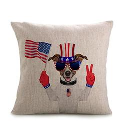 Independence Day Pillow Case,Elevin New Vintage Patriotic Am