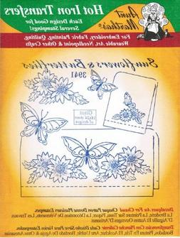 Aunt Martha's Hot Iron Transfers 3941 Sunflowers and Butterf