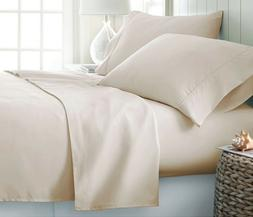 Ivory Solid  Luxury Bedding Item 100% Cotton 15 inch Drop 60