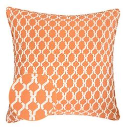 Homey Cozy Jacquard Cotton Throw Pillow Cover,Orange Quatref