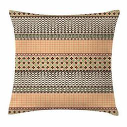 Kente Pattern Throw Pillow Cases Cushion Covers by Ambesonne