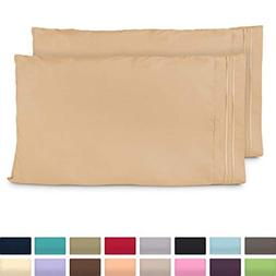 Cosy House Collection King Size Pillow Cases - Luxury Gold P