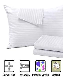 4Pack Pillow Protectors ❤ Allergy Control ❤ 100% Cotton