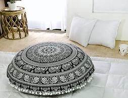 Popular Handicrafts Large Hippie Elephant Mandala Floor Pill