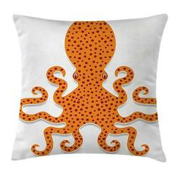 Kraken Throw Pillow Cases Cushion Covers Ambesonne Home Deco