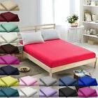 """100%Egyptian Cotton 16""""/40CM Deep Fitted Bed Sheets Twin,Que"""