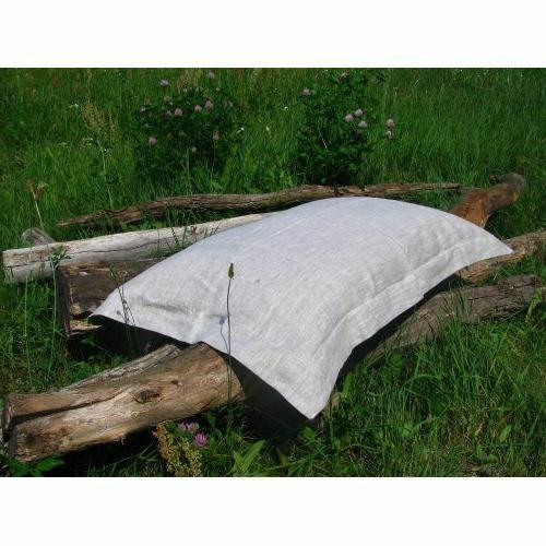 100% Linen Set of 2 Oxford Pillowcases Cover Case All sizes