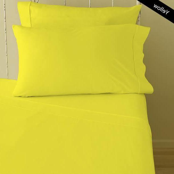 1000 TC Egyptian Cotton 8,10,12,15 Inch Deep Pocket Yellow S