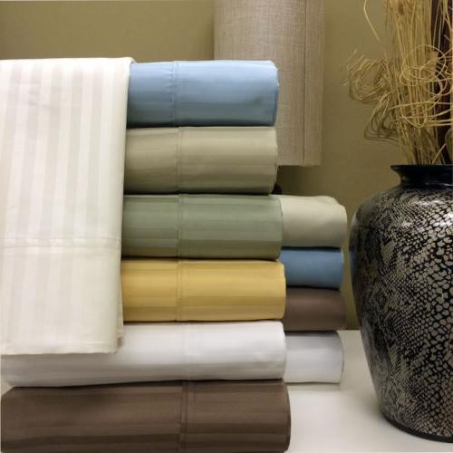 Royal Hotel 1000 Thread Count Striped Combed Cotton Pillowca
