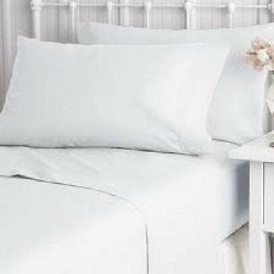 2 new pillow cases cover king size 20''x40'' bright white t-