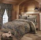 9 pc Camo Twin size Comforter, sheets, pillowcases and curta