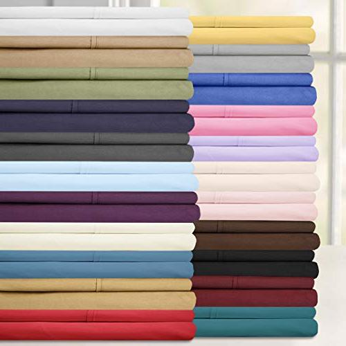 King Size Bed - Thread Microfiber Deep Sheet Set 2 Extra Cases, Great Value, King, Pink
