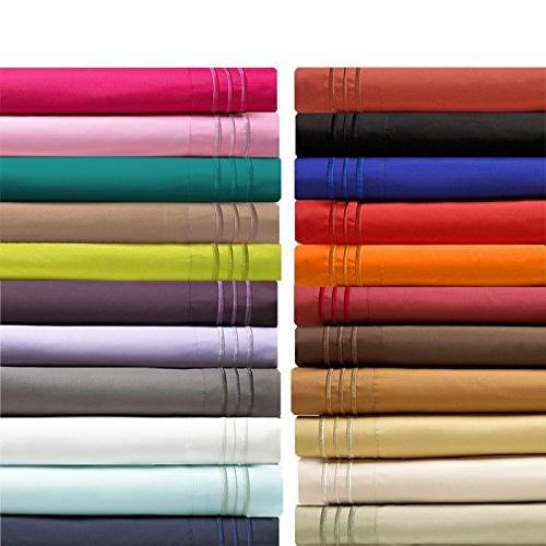 Elegant Comfort Thread Count Egyptian Hypoallergenic Wrinkle, Fade, Resistant Pillowcases, King Size,
