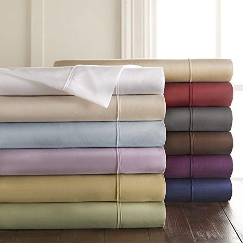 HC 1500 Count Egyptian Set Pillow Cases, Silky Soft & Free -King White