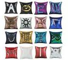 "16"" Mermaid Pillow Cover Cushion Case Reversible Sequin Magi"