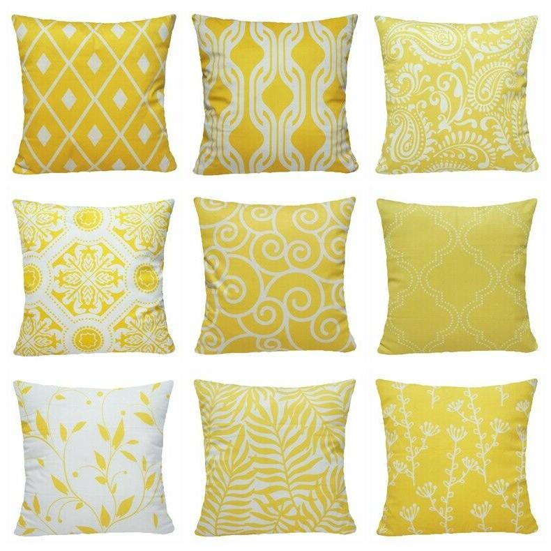 yellow soft accent throw pillow cover sofa