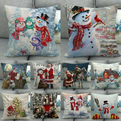 18 snowman winter cojines waist throw pillow
