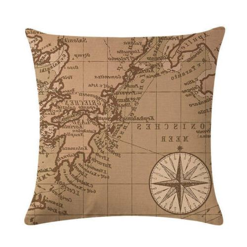 """18"""" Throw Pillow Vintage Pattern Cojines"""