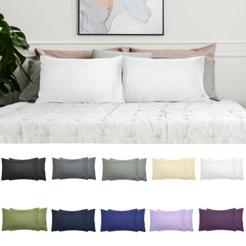 60% OFF - 2Pcs Pillowcases LUXURY Platinum Collection 1800 S