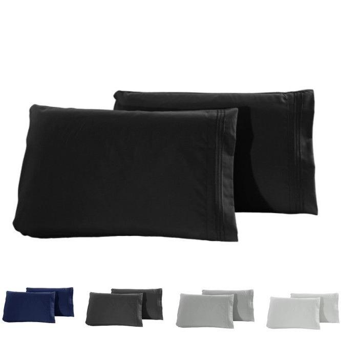 1800 pillow case set queen standard size