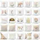 18Gold Shining Printed Polyester Sofa Pillow Case Cushion Co