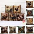 """18x18"""" Colorful Chicken Rooster Printed Cushion Cover Pillow"""