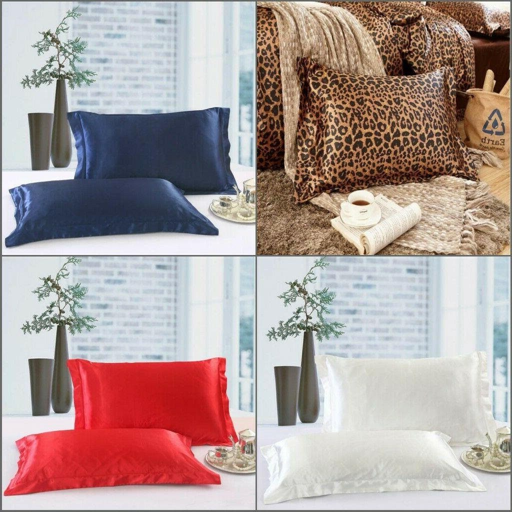 1pc queen size silk y satin pillow