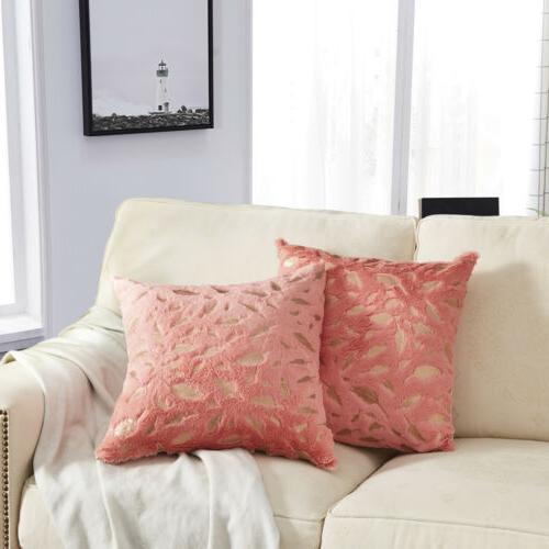 1 Faux Fur Pillow Cushion Sofa Bed Square