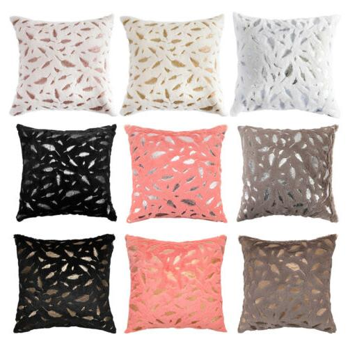 1 2pcs Faux Velvet Pillow Bed