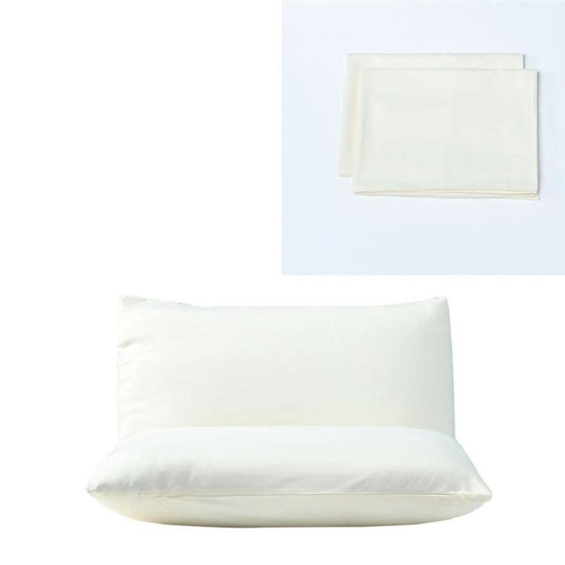 2PC Hotel Case Waterproof Solid Zipper Pillow Protectors Cover
