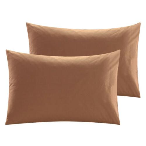 2Pcs Premium Cotton Pillow Case Pillowcases Queen