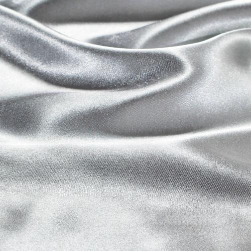 2Pcs Standard King Satin Silk Pillowcase Case Bedding
