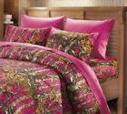 3 PC HOT PINK CAMO SHEETS PILLOW CASE CAMOUFLAGE TWIN NO COM