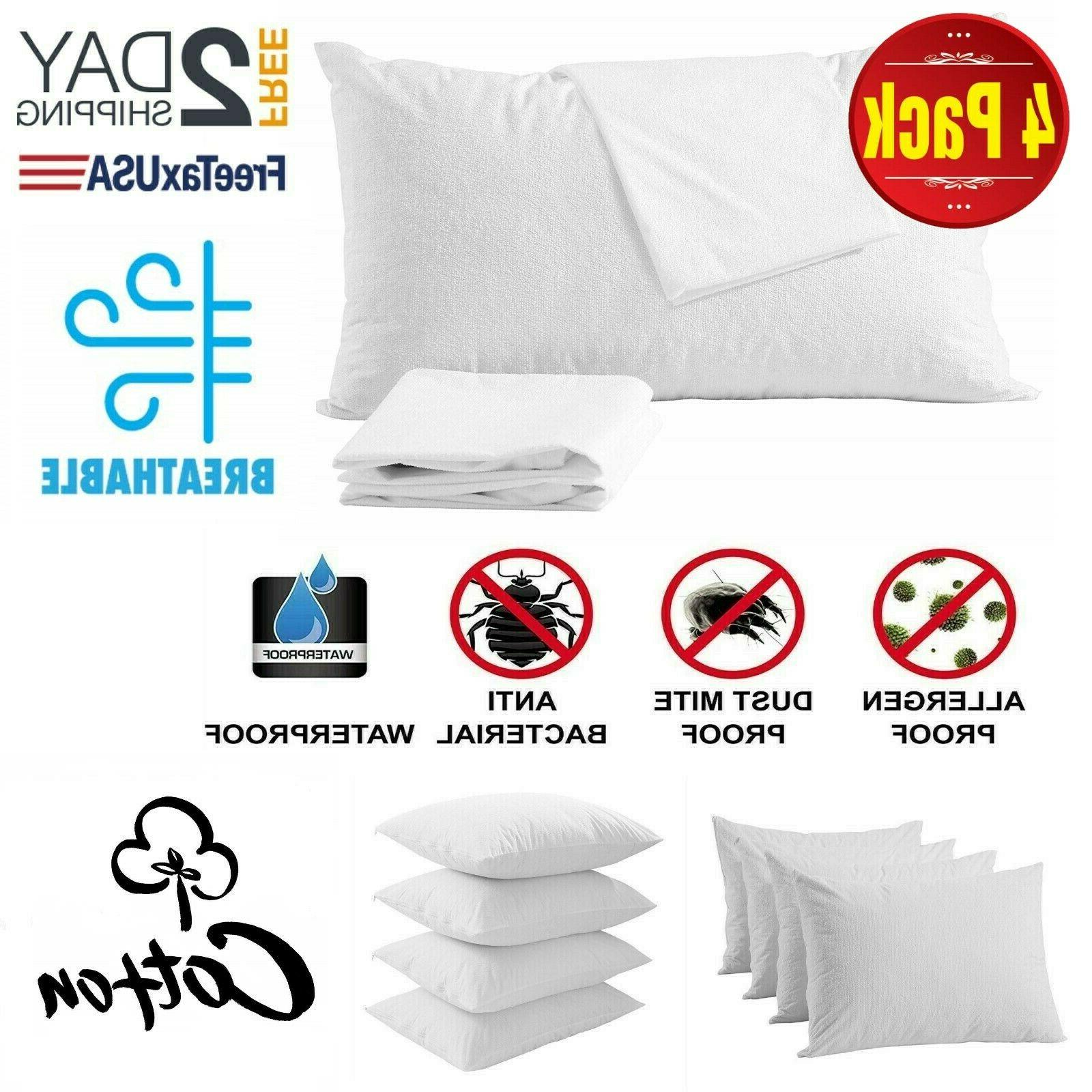 4 pillow protector cover case waterproof 20x30