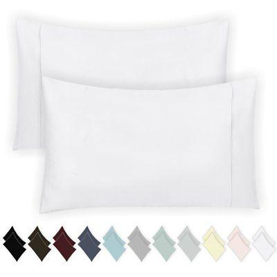 400 Count Cotton White of 2, Long-Staple Combed Pure for Silky Weave Pillow