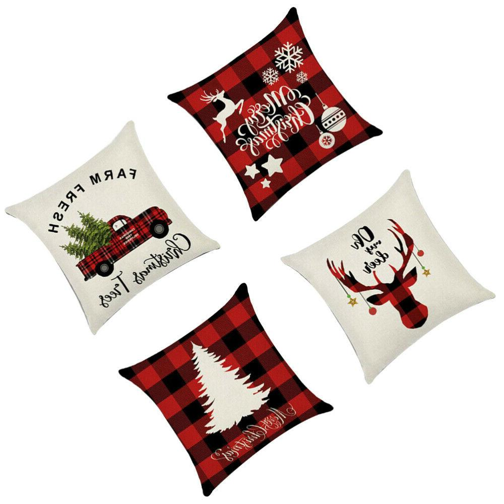 4PCS Case Fashionable Pillowslip for Bedroom Car