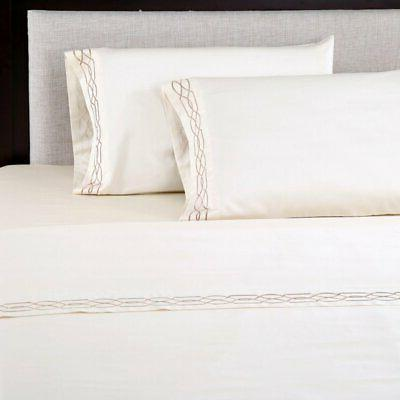600 thread count embroidered pillowcase set by