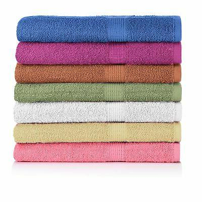 "7-Pack: 27"" x 52"" 100% Cotton Extra-Absorbent Bath Towels"
