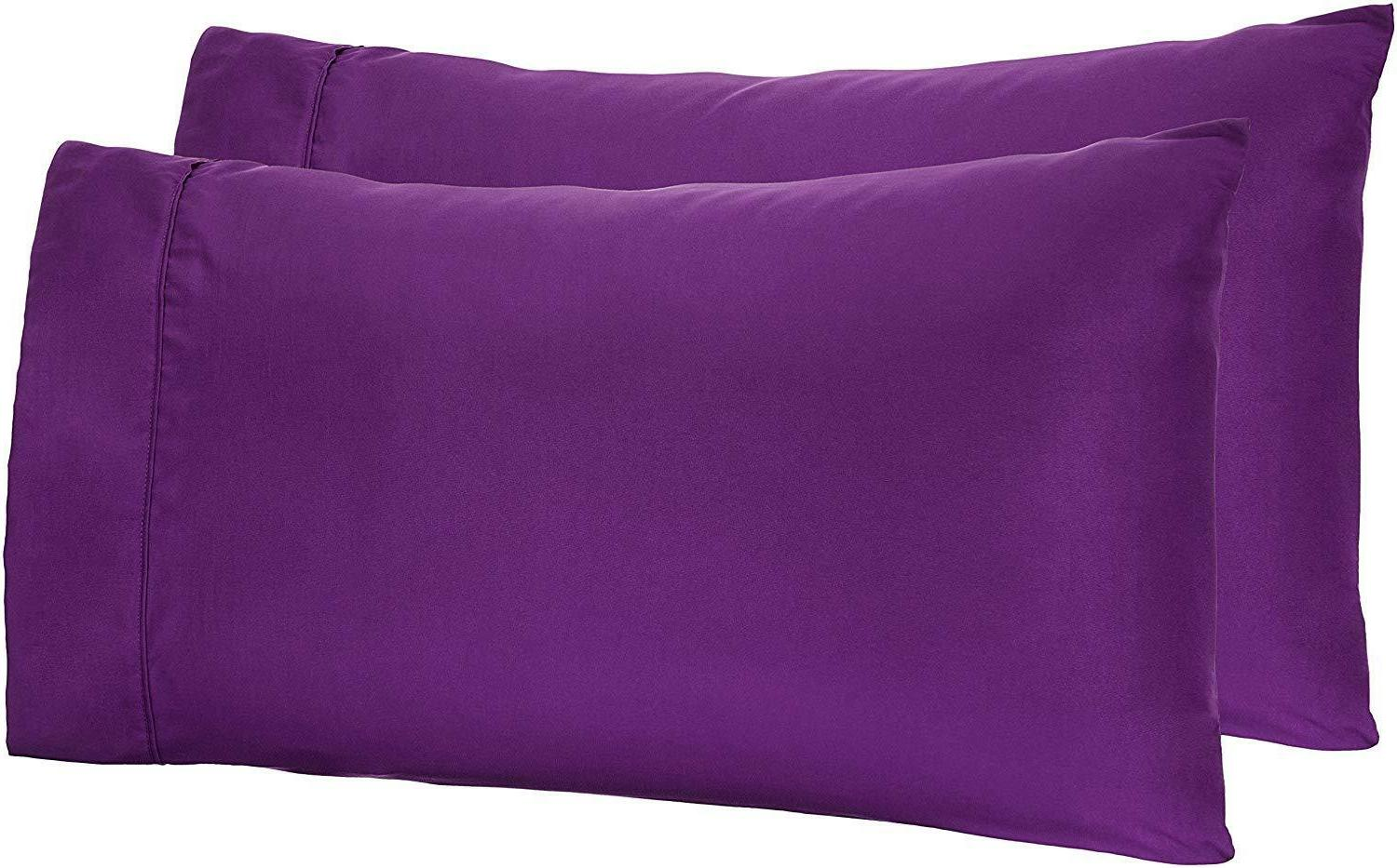 AmazonBasics Microfiber Pillowcases 2-Pack Standard Colour P