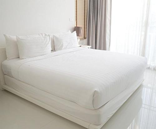 American Pillowcase Cotton Thread Count Fitted with Wrinkle Guard Queen,