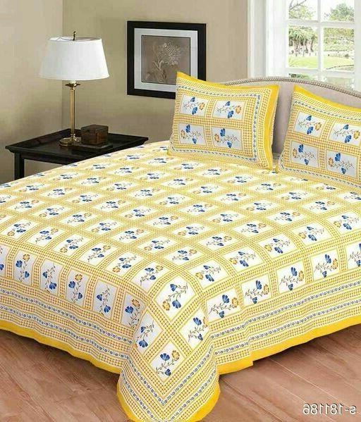 Colorful Elite Double Bed cover  with Pillow Case Bedspreads